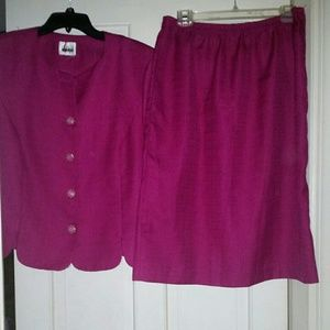 Leslie Fay Pink Suit Skirt Size 14